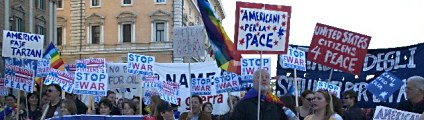 anti-war demonstration in Rome